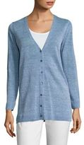 Eileen Fisher Paint Linen V-Neck Cardigan