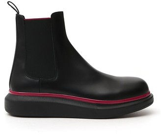 Alexander McQueen Hybrid Chunky Sole Chelsea Boots