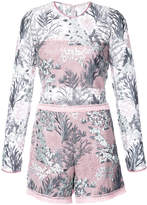 Alexis floral embroidered playsuit