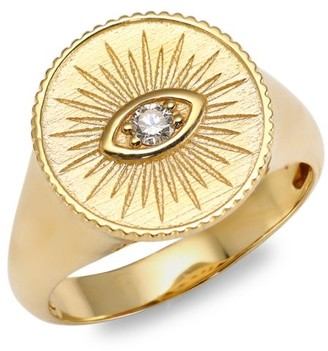 Sydney Evan 14K Yellow Gold & Diamond Marquis Eye Ring