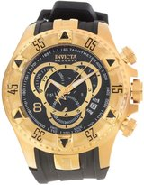 Invicta 80639 Men's Excursion Reserve Chronograph Dial Gold Tone Steel Rubber Strap Dive Watch