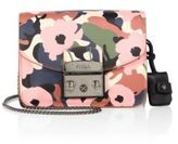 Furla Metropolis Mini Flower-Print Leather Crossbody Bag