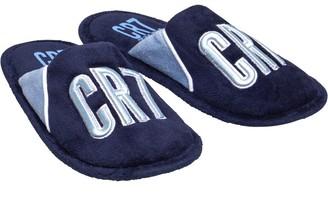 CR7 Junior Boys Moscou Open Back Slippers Navy/Light Blue