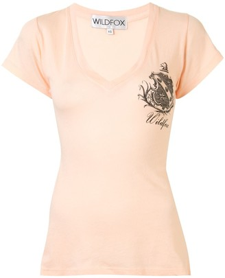 Wildfox Couture logo patch T-shirt