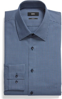 BOSS Extra Slim Fit Geometric Dress Shirt