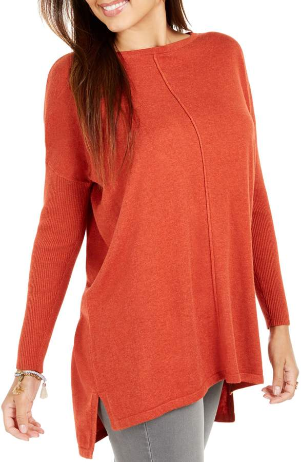 Style&Co. Style & Co. Seam-Front Cotton-Blend Tunic Sweater