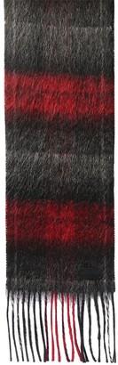 Saint Laurent Logo Check Wool & Mohair Scarf