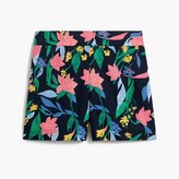 J Crew Factory Floral basketweave short with side zip