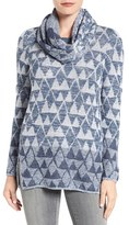 Nic+Zoe Women's Starstruck Scarf Neck Knit Top