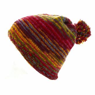 Pacha Mama Pachamama Zanzibar Wool Multi-Coloured Striped Bobble Hat
