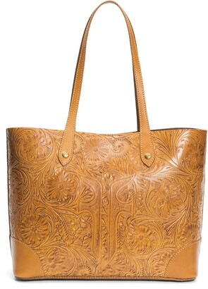 Frye Melissa Artisan Tooled Leather Shopper