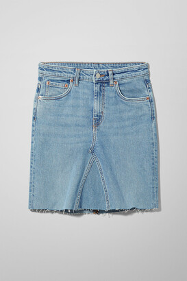 Weekday Way Re-made Swish Blue Skirt - Blue