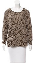 By Malene Birger Cheetah Print Long Sleeve Top
