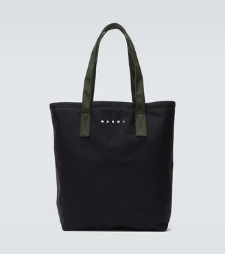 Marni Canvas tote bag with logo