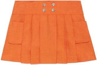 Gucci Children's viscose linen skirt