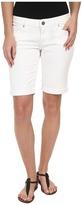 Paige Jax Knee Short in Optic White