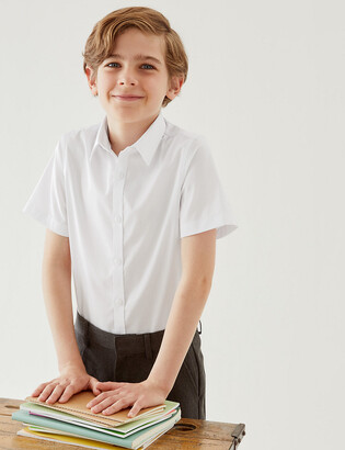 Marks and Spencer 2 Pack Senior Boys' Slim Fit Non-Iron Shirts