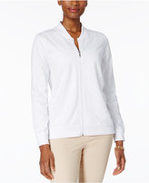 Alfred Dunner Bahama Bays Perforated Bomber Jacket