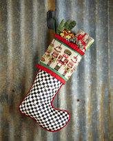 Mackenzie Childs MacKenzie-Childs Santa's Workshop Christmas Stocking