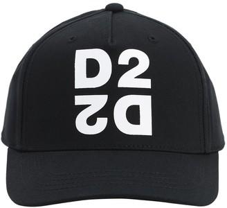 DSQUARED2 Rubber Logo Gabardine Baseball Hat