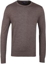 Aquascutum Brown Hoskins Crew Neck Sweater