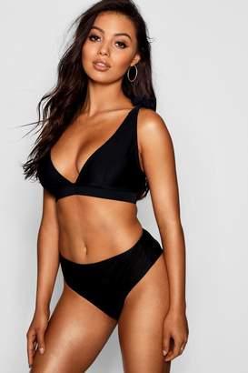 boohoo Tahiti Fuller Bust Tie Strap Triangle Bikini Top