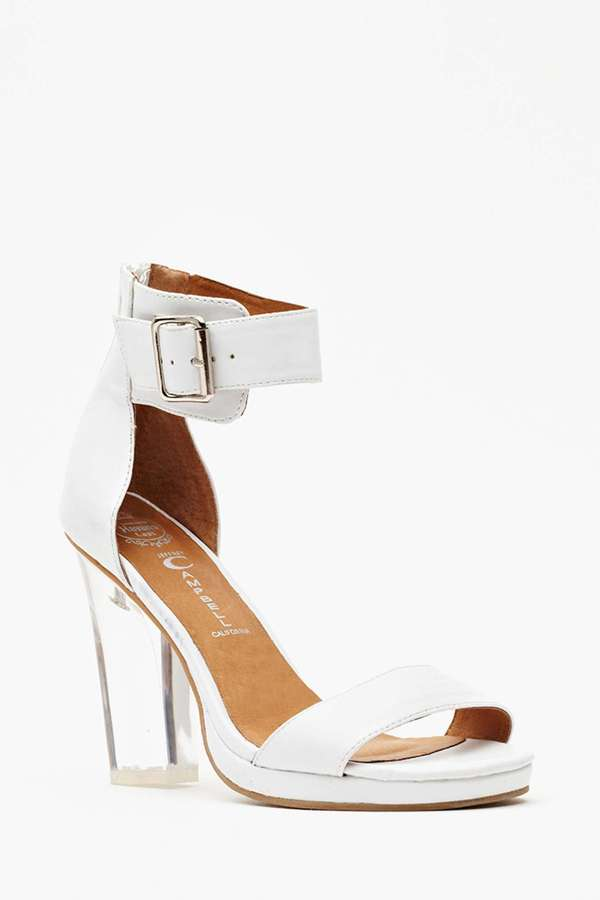 Nasty Gal Jeffrey Campbell Soiree Heel - White