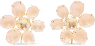 Bounkit 14-karat Gold-plated Rose Quartz Earrings