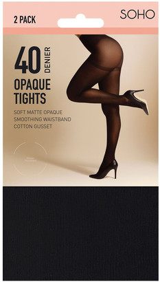 S.O.H.O New York 40D Opaque Tights Black Ave-Tall