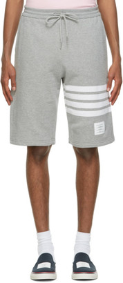 Thom Browne Grey Loopback 4-Bar Shorts