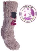 MinxNY Fuzzy Slipper Sock Phone Pocket Lavender Infused Lrg