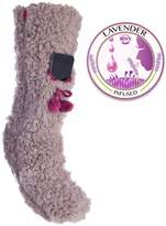 VH Apparel Fuzzy Slipper Sock Phone Pocket Lavender Infused Lrg