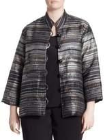 Caroline Rose Multicolored Metallic Jacquard Jacket