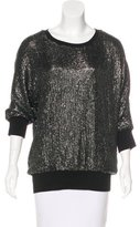 ADAM by Adam Lippes Sequin-Embellished Silk Top