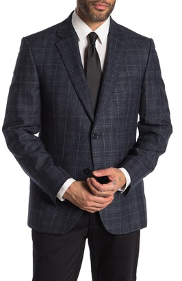 JB Britches Logan High Blue Windowpane Two Button Notch Lapel Sport Coat