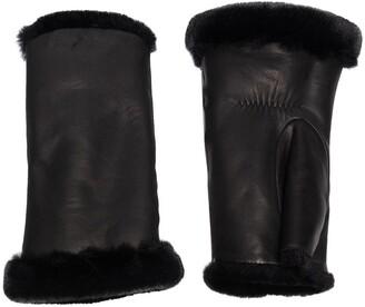Agnelle Fingerless Leather Gloves