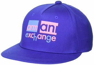 A|X Armani Exchange Women's Bi-Color Block Logo Baseball Hat