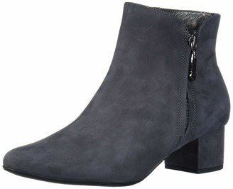 Marc Joseph New York Women's Genuine Leather Block Heel with Zipper Detail Spruce Street Bootie Ankle Boot