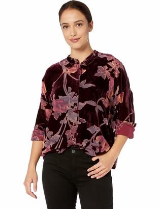 Tribal Women's L/S Oversized Burnout Shirt