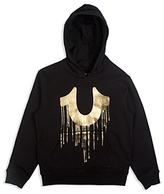 True Religion Boys' Logo Hoodie with Gold-Foil Graphic - Big Kid