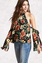 Forever 21 Contemporary Floral Halter Top