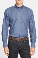 Nordstrom Smartcare TM Regular Fit Twill Denim Boat Shirt (Regular & Tall)