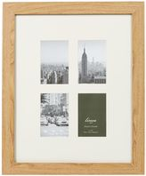 Linea Pale wood 4 aperture photo frame