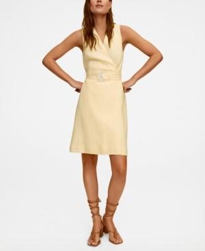 MANGO Belt Dress