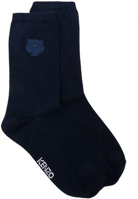 Kenzo logo patch socks