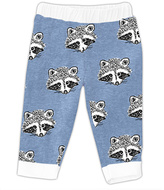 Urban Smalls Heather Blue Raccoon Face Pants - Infant