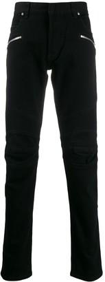 Balmain biker style jeans