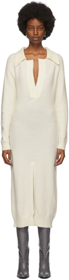 Nanushka SSENSE Exclusive Off-White Flora Dress