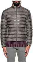 Tod's Gray Quilted Leather Jacket