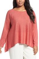 Eileen Fisher Plus Size Women's Fine Gauge Knit Pullover